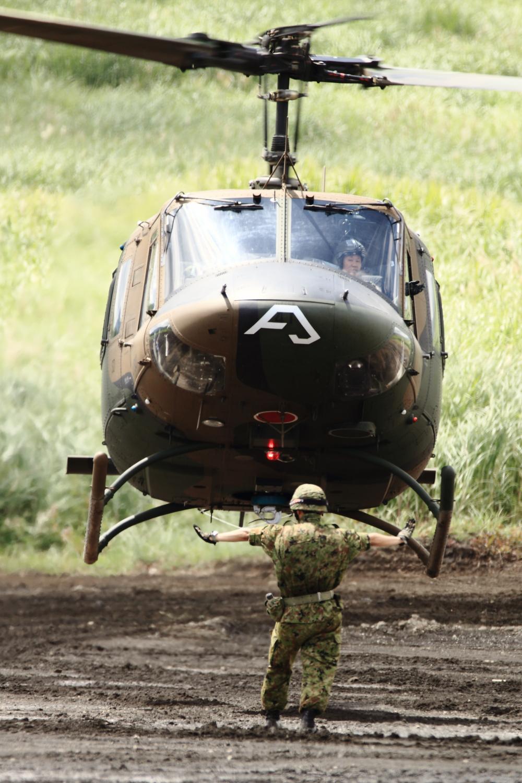 Sokuup 総火演予行 ヘリコプター 軍用機 陸上自衛隊 Uh 1j ワンジェ