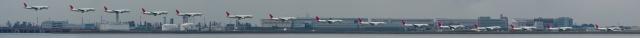soku_05321.jpg :: 乗り物 飛行機 羽田空港 JAL パノラマ 連続写真
