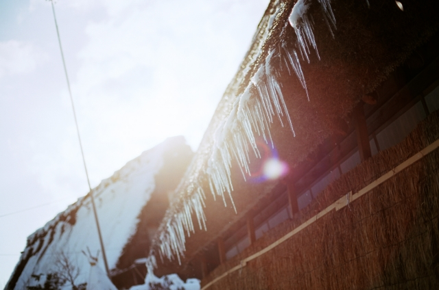 soku_09673.jpg :: 風景 自然 氷 氷柱 フィルム 銀塩