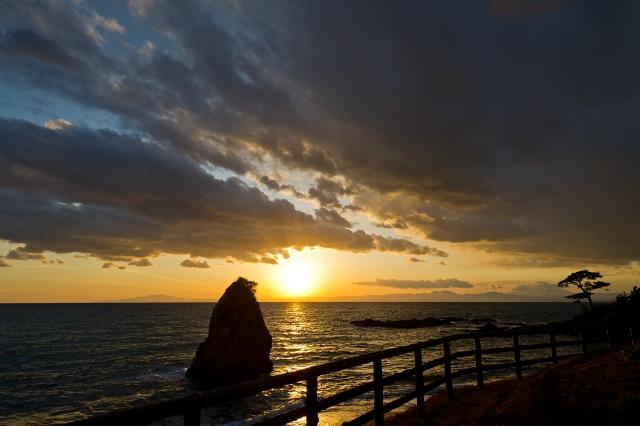soku_10068.jpg :: 風景 自然 空 夕日 夕焼け 日没