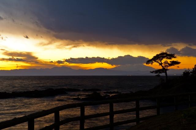 soku_10069.jpg :: 風景 自然 空 夕日 夕焼け 日没