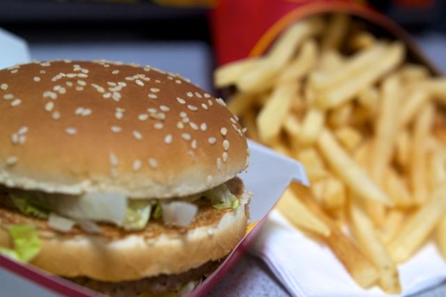 soku_10081.jpg :: 食べ物 ジャンクフード フライドポテト ハンバーガー