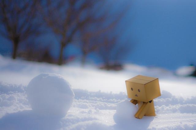 soku_10358.jpg :: 風景 自然 雪景色 アート 工芸品 フィギュア ダンボー