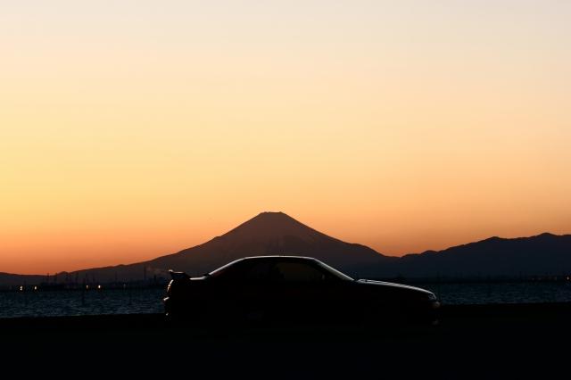 soku_34773.jpg :: 風景 郊外 車 ドライブ 自然 山 富士山