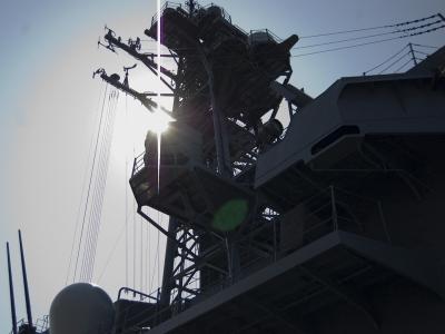 soku_00541.jpg :: 艦艇 戦艦 護衛艦 海上自衛隊 マスト 光
