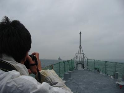 soku_00866.jpg :: 海 曇り 船 自衛艦 海上自衛隊 艦首