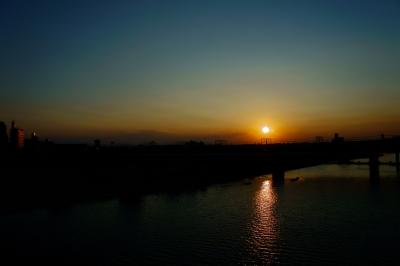 soku_01329.jpg :: 風景 橋 朝日 太陽