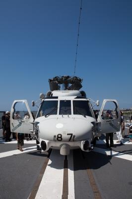 soku_01374.jpg :: 新潟市 山の下埠頭 DD.154 あまぎり Amagiri 後部ヘリ甲板 SH.60J 哨戒ヘリ 海上自衛隊 護衛艦 自衛艦