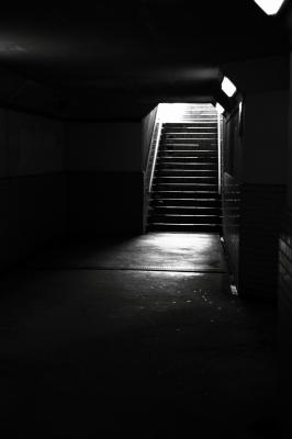 soku_01956.jpg :: 白黒 モノクロ 階段