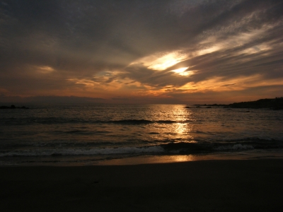 soku_02373.jpg :: 自然 風景 夕日 夕焼け 日没 千葉館山
