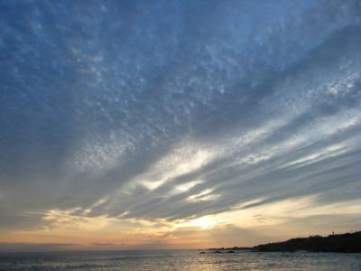 soku_02376.jpg :: 自然 風景 夕日 夕焼け 日没 千葉館山