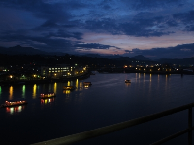 soku_02683.jpg :: 夜景 自然 風景 川 河川 屋形船