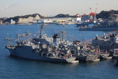 soku_04879.jpg :: 乗り物 船 船舶 艦船 横須賀 パノラマ素材1