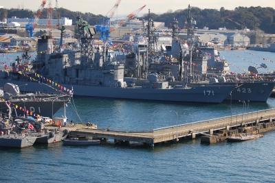 soku_04881.jpg :: 乗り物 船 船舶 艦船 横須賀 パノラマ素材3