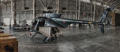 soku_04977.jpg :: 格納庫 陸上自衛隊 ヘリコプター OH-6