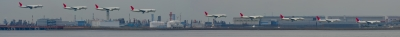 soku_05208.jpg :: 乗り物 交通 航空機 飛行機 羽田空港 JAL 連続写真 未完成