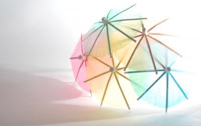 soku_06063.jpg :: 傘 飾り ペーパークラフト