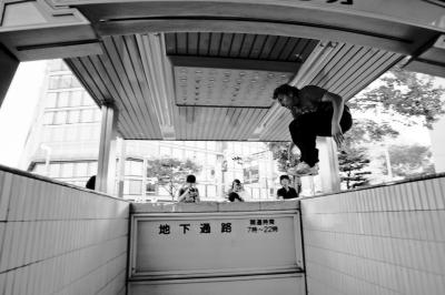 soku_06722.jpg :: パルクール フリーランニング 地下鉄