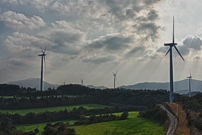 soku_07023.jpg :: 建築 建造物 風車 ビジネス 産業 エネルギー 風力発電 HDR