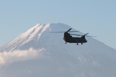 soku_07220.jpg :: 風景 自然 山 富士山 陸上自衛隊 輸送ヘリコプター CH-47J