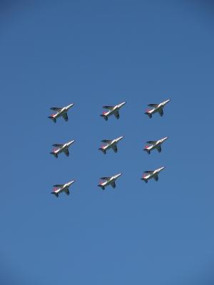 soku_07596.jpg :: 風景 自然 空 飛行機 T-4 レッドドルフィン