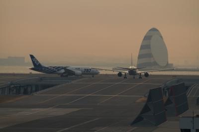 soku_08026.jpg :: 乗り物 交通 航空機 飛行機 羽田空港 ANA ボーイング787