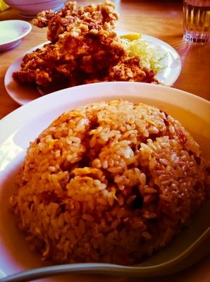 soku_08034.jpg :: 食べ物 和食 揚げ物 唐揚げ チャーハン
