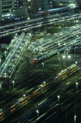 soku_08066.jpg :: 山手線新駅ができるらしい場所 乗り物 交通 鉄道 電車 建築 建造物 線路