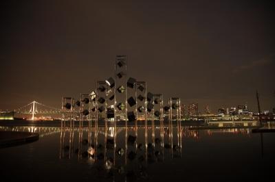 soku_08427.jpg :: 晴海ふ頭公園 建築 建造物 街並み 公共 公共施設 公園 夜景