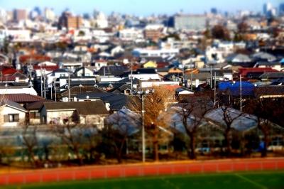 soku_08515.jpg :: 建築 建造物 街並み 住宅 ミニチュア風