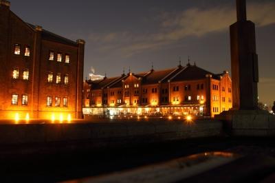 soku_08867.jpg :: 色 光 ライトアップ レンガ造り 建築 建造物 赤レンガ倉庫 夜景