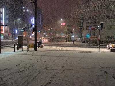 soku_09098.jpg :: 九段下 風景 自然 雪景色 東京大雪