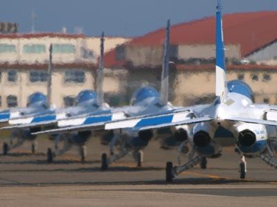 soku_09342.jpg :: 乗り物 交通 航空機 飛行機 ブルーインパルス T.4 メラメラ