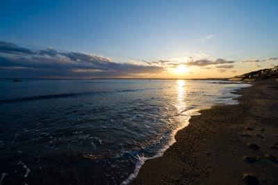 soku_09357.jpg :: 風景 自然 海 風景 自然 空 夕日 夕焼け 日没