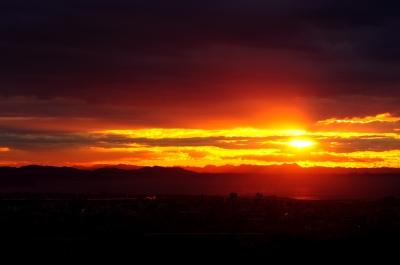 soku_09579.jpg :: 風景 自然 空 朝日 朝焼け 日の出 雲