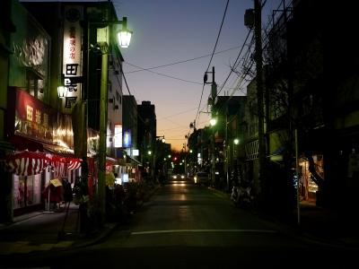 soku_09665.jpg :: トワイライト 風景 街並み 都市の風景 商店街 夜景 GX1+20mmF1.7