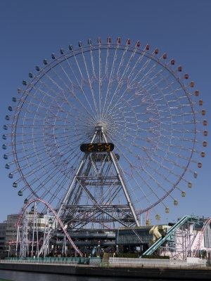 soku_09759.jpg :: GX-1_1 風景 街並み 遊園地 横浜コスモワールド 観覧車