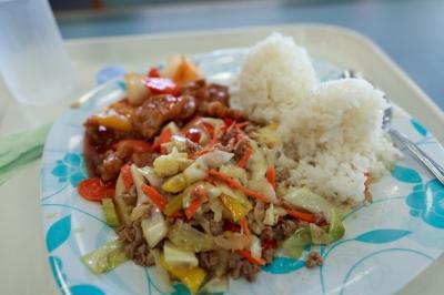 soku_09874.jpg :: 食べ物 ランチプレート 野菜炒め