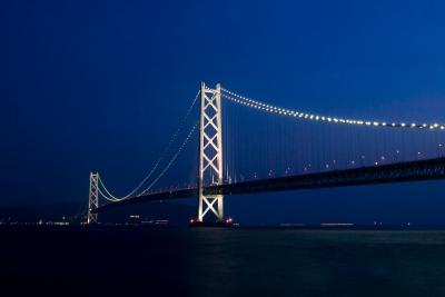 soku_09911.jpg :: 風景 街並み ランドマーク 橋 明石海峡大橋 夜景