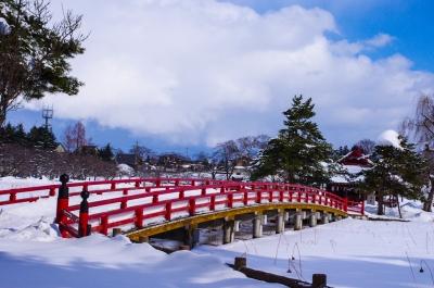 soku_09946.jpg :: 街並み ランドマーク 橋 風景 自然 雪景色 雪道