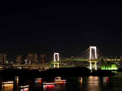 soku_10418.jpg :: 風景 街並み ランドマーク 橋 レインボーブリッジ 夜景