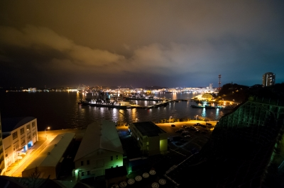 soku_10436.jpg :: 海上自衛隊 横須賀基地(横須賀本港、吉倉桟橋) 夜景