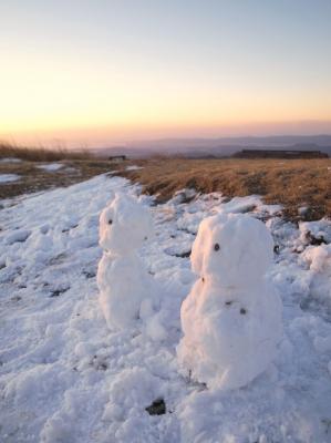 soku_10759.jpg :: 風景 自然 雪景色 雪だるま