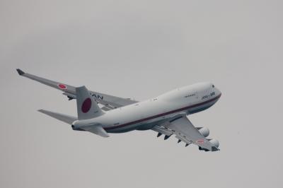 soku_11275.jpg :: 乗り物 交通 航空機 飛行機 輸送機 B.747(日本国政府専用機)