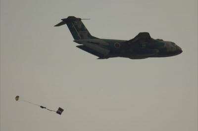 soku_11573.jpg :: 輸送機 C-1 空挺降下 乗り物 交通 航空機 飛行機