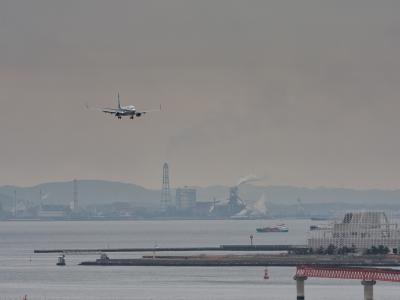 soku_12509.jpg :: 風景 自然 空 飛行機 着陸態勢
