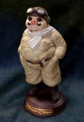 soku_12738.jpg :: スタジオジブリ 紅の豚 ポルコ・ロッソ 豚 フィギュア