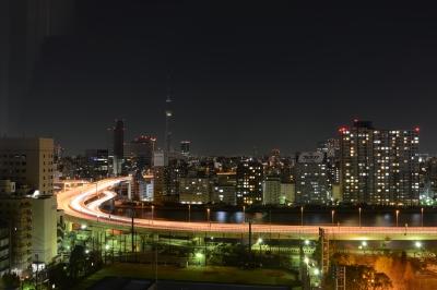 soku_13478.jpg :: 風景 街並み 都市の風景 ビル群 高速道路 スローシャッター