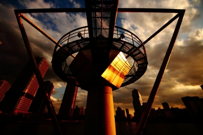 soku_13607.jpg :: 風景 街並み 都市の風景 自然 空 夕日 夕焼け 日没