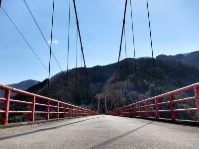 soku_13722.jpg :: PowerShotS95 風景 自然 建築 建造物 橋 琴平橋 神流湖 HDR